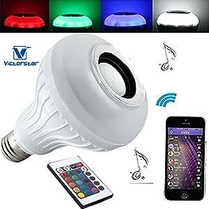VICTORSTAR @ Musique Ampoule LED / LED RGB + W Ampoule E27 6W avec haut-parleur Bluetooth 3W + 24 clé Télécommande-433905