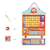 Takefuns My Responsibility Chart Reward Behavior Chart Magnetic Dry Erase Wooden Chore Chart with Storage Bag Responsibility Chart Child Growth Self-discipline Toys