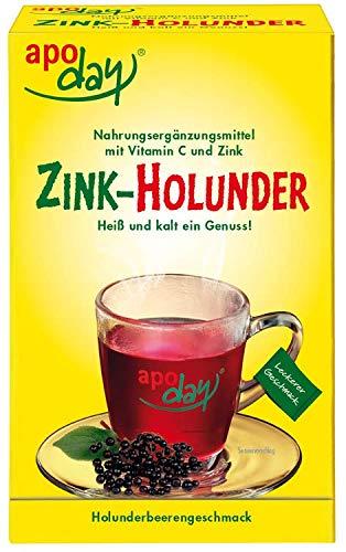 apoday Zink-Holunder zuckerfrei, 10x10 g Pulver -