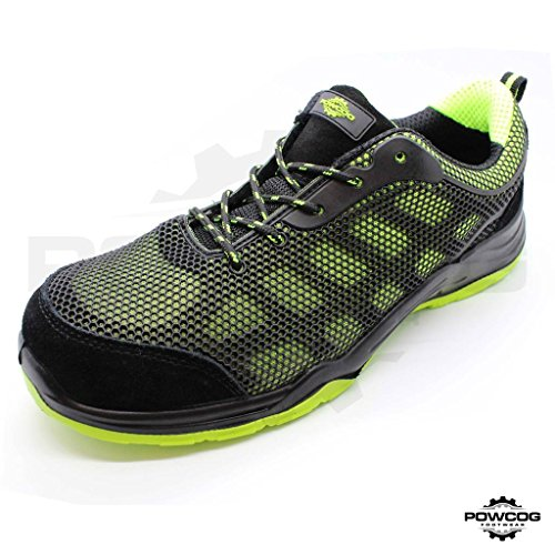mens-zeus-safety-trainers-s1p-size-13-in-black-green-steel-toe-lightweight-en-iso-203452011-complian