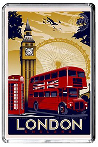F210 LONDON FRIDGE MAGNET ENGLAND VINTAGE TRAVEL PHOTO