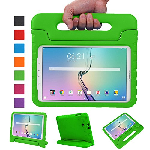 NEWSTYLE Samsung Galaxy Tab E 9.6 Zoll Hülle EVA Stoßfeste Schutzhülle Tragbar für Kinder mit Ständer Schutzhülle Standfunktion für Samsung Tab E SM-T560/SM-T561 9.6 Zoll Tablet,- Grün