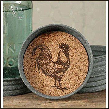 Mason Jar Rooster Lid Coaster by Colonial Tin Works