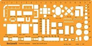 1 50 architekt schablone zeichenschablone m blierung innenarchitektur technisches zeichnen. Black Bedroom Furniture Sets. Home Design Ideas