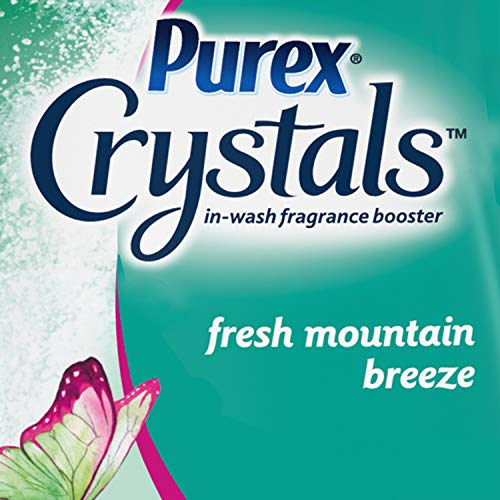 Purex Crystals in-Wash Fragrance and Scent Booster, Fresh Mountain Breeze, 15.5 Ounce, 4 Count