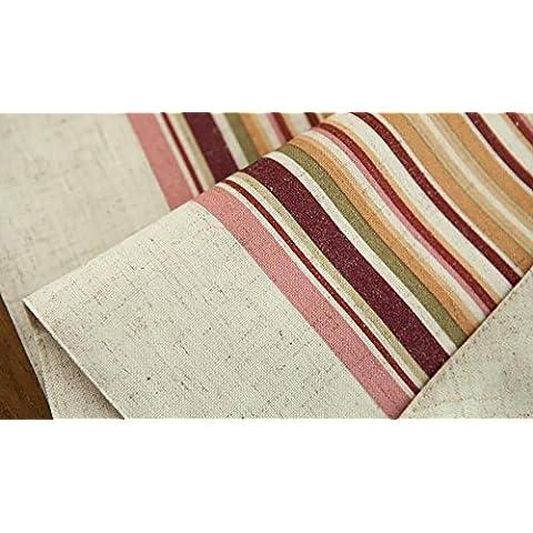 corredor de la tabla de rayas textil Pastoral americana de doble tela de mesa ( Tamaño : 31x220cm )