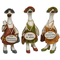 Complete Set of 3 Glam Girls Ducks ~ Fabulous Shabby Chic Ornaments