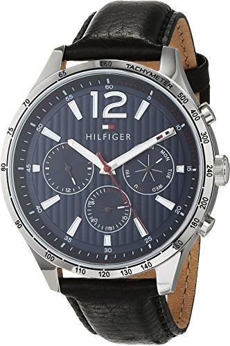 Tommy Hilfiger Mixte Multi-Cadrans Quartz Montre avec Bracelet en Cuir 1791468