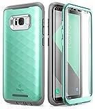 Étui pour Galaxy S8+ Plus Clayco [Série Hera] Étui robuste ajusté avec protecteur d'écran pour Samsung Galaxy S8+ Plus (Édition 2017),Vert menthe