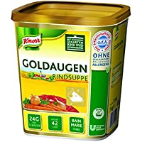 Knorr Goldaugen Rindsuppe (vielseitig anwendbare Rinderbrühe, authentischer Geschmack und idealer Suppenspiegel) 1er Pack (1 x 1kg)