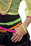 Perlen-Armbänder Neon Verschiedene Farben, One Size