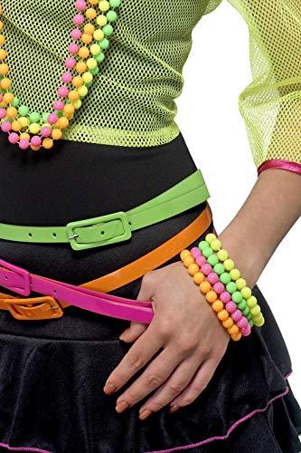 Perlen-Armbänder Neon Verschiedene Farben, One Size -