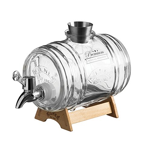 Kilner Clip Top dispensador de bebidas redondo P001, 1 Litre Barrel, 1 Litre Barrel, 1