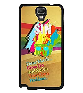Fuson Premium Sin Cos Metal Printed with Hard Plastic Back Case Cover for Samsung Galaxy Note 3 Neo N7505