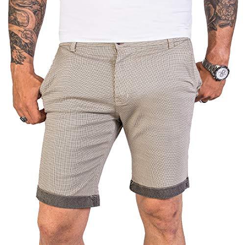 Rock Creek Designer Chino Shorts Herren Short Sommerhose Elegant Bermuda Kurz Herrenhose Anzugsshorts Herrenshorts Bermudas RC-2204 Beige W34