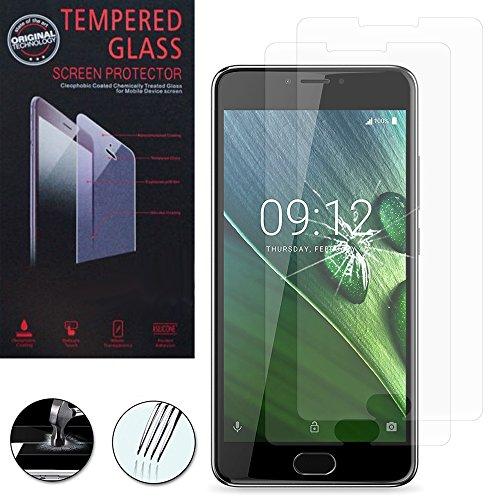 VComp-Shop® 2x Hochwertige gehärtete Panzerglasfolie für Acer Liquid Z6 Plus 5.5