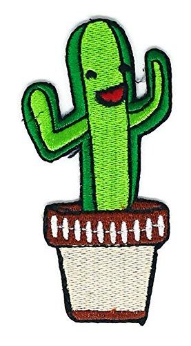 �ste Blumentopf Cartoon Zeichen Hippie Retro Biker Jacket T-shirt Vest Patch Sew Iron on gesticktes Badge Custom (Blumentopf Kostüm Diy)