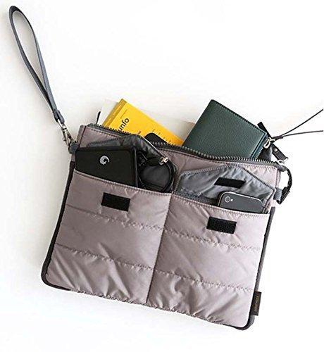 Togather® Multi-funzionale Nylon zip Gadget Pouch Bag in Organizer Bag borsa viaggio Storage Bag per iPad /compresse (grigio)