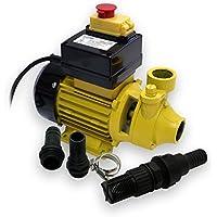 WilTec Bio Dieselpumpe für 2400 L/h Heizölpumpe mit 230 VAC 600 W
