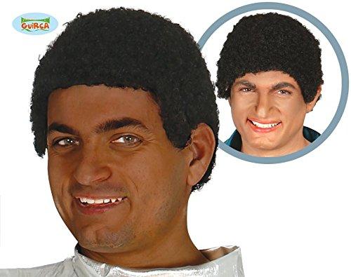 schwarze kurze Afro Perücke für Herren (Herren Afro Perücke)