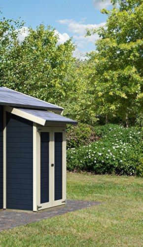 Karibu 16 mm starkes Dach