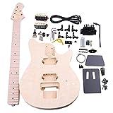 BQLZR madera de tilo Arce mm1-f 6cuerdas Guitarra eléctrica DIY Kit cuerpo Golpeador Humbucker Pickup puente guitarra clavijas botón de cuello para constructor Luthier