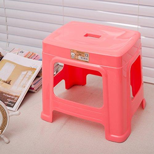 Stool Dana Carrie Tabouret Accueil Petites chaises en Plastique Plastique Adultes bancs Salon Table Basse sur Un Tabouret Bas l'un des Souliers de 2PCS, Rose