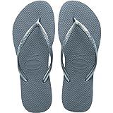 Havaianas Slim Steel Grey Rubber Flip Flops