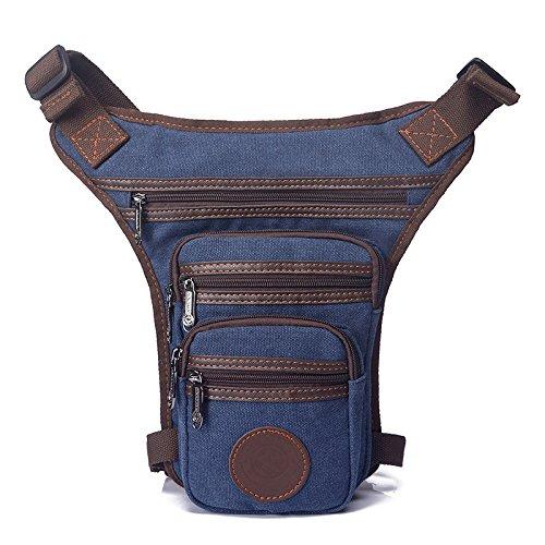 Herren Brust Tasche Messengerbag deep blue