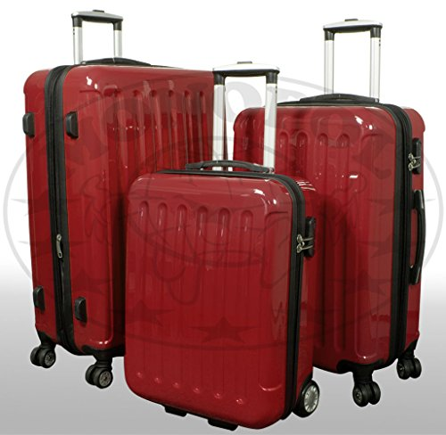 PMro-Trading Euro-Trading Panther Suitcase Jungle Arts Size - Large. Color- Red Koffer. 78 cm. 91 liters. Rot (Red)