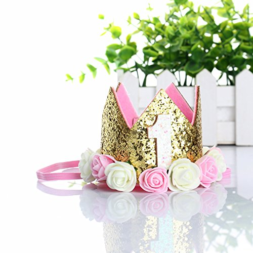 SUPER-BAB Festival Birthday Party Lace Letter Flower Crown Headband DIY Rose Gift Children Girls Hair Accessories