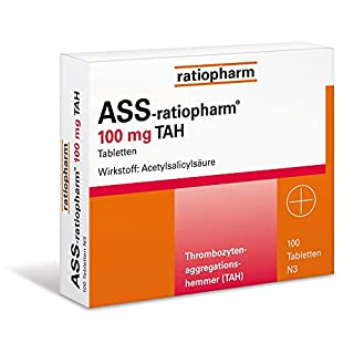 ASS-ratiopharm 100 mg TAH Tabletten, 100 St.