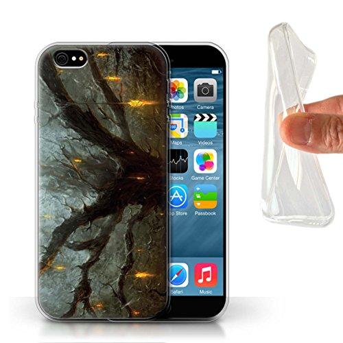 Offiziell Chris Cold Hülle / Gel TPU Case für Apple iPhone 6 / Gift Haupt Muster / Gefallene Erde Kollektion Baum des Wissens