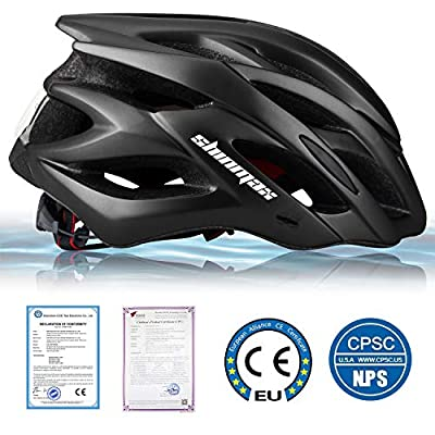 Shinmax Cycle Helmet with LED Light,CE Certified,Specialized Cycle Bike Helmet with Safety Light Super Light Integrally Bike Helmet Adult Bike Helmet with Detachable Visor and Liner Ski & Snowboard from Shinmax