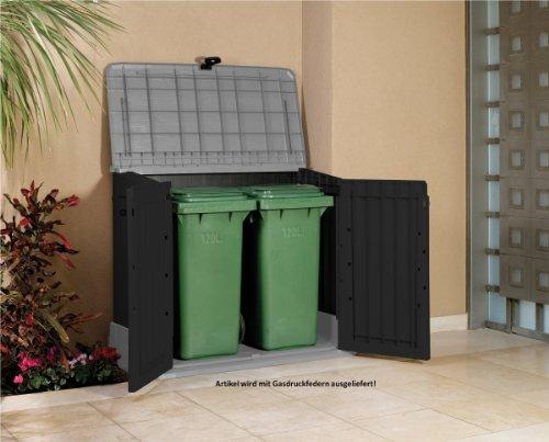 Mülltonnenbox von Keter Store it Out Midi, Schwarz, 845L - 5