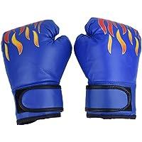 Guantes de Boxeo de Niños Guante de Entrenamiento de Cuero PU para Thai Sparring Kickboxing Guantes para Niños de 7-13 Años ( Color : Azul )