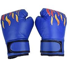 Guantes de Boxeo de Niños Guante de Entrenamiento de Cuero PU para Thai Sparring Kickboxing Guantes