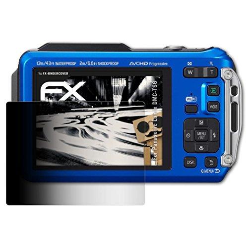 atFoliX Blickschutzfilter kompatibel mit Panasonic Lumix DMC-TS6 Blickschutzfolie, 4-Wege Sichtschutz FX Schutzfolie