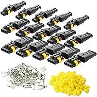 Kit de 15 conectores de cable de coche, terminal eléctrico impermeable, enchufe para auto
