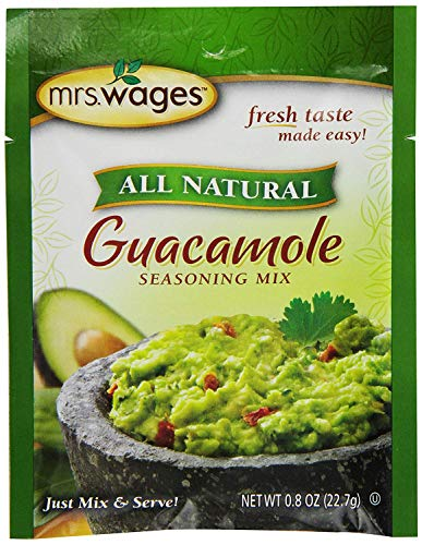 Mrs. Wages Guacamole Seasoning Mix.8-Ounce Pouches (Pack of 12, Packaging May Vary)