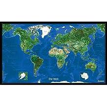 Die Erde - Blick aus dem All mit Leiste (MICHELIN Planokarten)