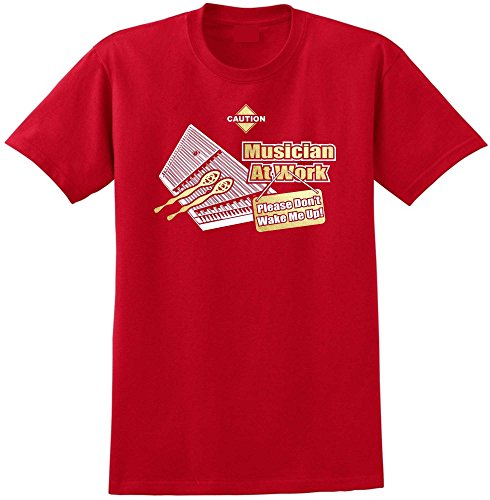 MusicaliTee Dulcimer Hammered Dont Wake Me - Red Rot T Shirt Größe 87cm 36in Small