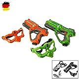 Laser-Tag Pistole als Battle-Set mit 2x Pistole und 2x Masken für spannende Duelle, Laser-Pistolen, Laser-Gun, Laserspiele für Kinder
