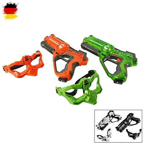Laser jour Set de Battle de pistolet avec 2x Pistolet et 2x Masques pour pistolets spannende Duels, laser, laser Gun, laser Jeux pour enfants