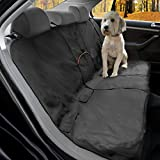 Kurgo Rücksitzabdeckung für Hunde, Wasserfest und kratzfest, Einheitsgröße – Passend für die meisten Fahrzeuge, Schwarz, Wander Bench Seat Cover, 01189