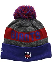 New Era Herren Strickmütze Nfl Sideline Bobble Knit York Giants, Mehrfarbig (Team), One size
