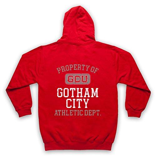 The Guns Of Brixton Justice League Cyborg GCU Gotham City Athletic Dept Erwachsenen Kapuzensweater mit Reißverschluss, Rot, XL - City Tv Brust