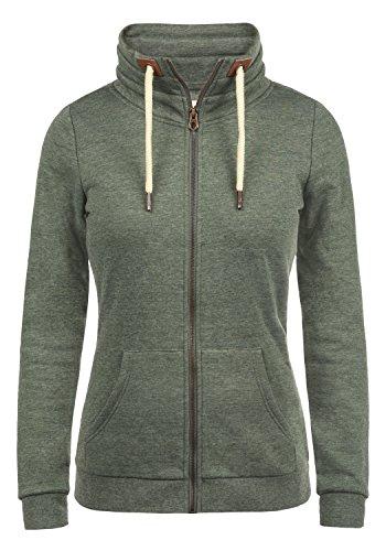 DESIRES Vicky Zipper Damen Sweatjacke Jacke Sweatshirtjacke Mit Stehkragen, Größe:S, Farbe:Climb Ivy (8785)