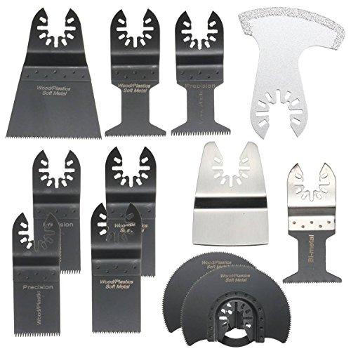 BABAN 12pcs Mix Sägeblätter Oszillierende Klinge Saw Blade Oscillating für Fein Multimaster Bosch Makita Multitools