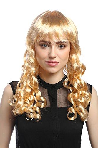 Perücke Prinzessin Blonde (WIG ME UP - XR-007-P02 Perücke Damen Karneval Fasching Cosplay Korkenzieher Locken lang Pony blond Gothic Lolita Kolonial Biedermeier ca. 50)